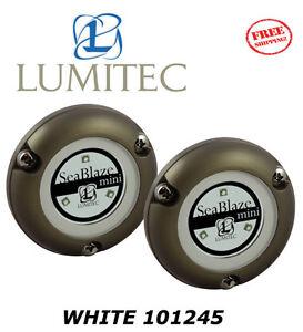 LUMITEC LED Marine Boat SeaBlaze MINI Underwater Light WHITE Brushed NEW 101245