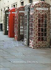 GRAHAM & BROWN Wallpaper Paint Wall Art - Original 2013 ADVERT Telephone Boxes