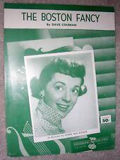 1955 The Boston Fancy Vintage Sheet Music Gisele Mac Kenzie by Dave Coleman