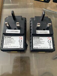 TalkTalk D-link DHP-300AV POWERLINE Adapters X 2, Plus Ethernet Cables X 2