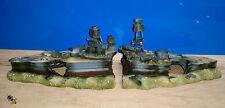 Aquarium Ornament Sunken Ship Wreck Boat Warship Fish Tank New