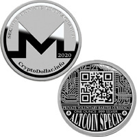 2020 Crypto Dollar Monero Altcoin Specie .999 Fine Silver Round Coin QR Code XMR
