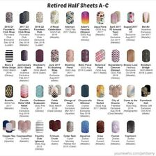Jamberry Nail Wraps Half Sheet A-C Retired - In Stock!