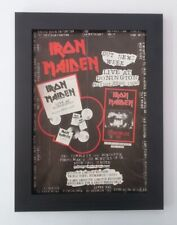 IRON MAIDEN*Live At Donington*ORIGINAL*A4*ADVERT*QUALITY*FRAMED*FAST WORLD SHIP