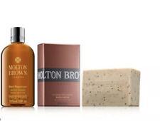 Molton Brown Men's Black Peppercorn Body Wash 300ml & Scrub Bar 250g