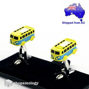 3D Retro Volkswagen Camper Bus Novelty Cufflinks