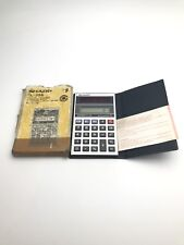 Sharp Calculator Elsi mate EL-356 Solar Power - boxed - rare vintage