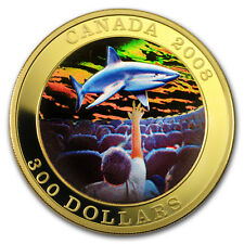 2008 Canada Gold Proof $300 IMAX Great White Shark (Hologram)