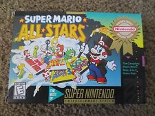 Super Mario All-Stars Super Nintendo SNES COMPLETE Game+Box+Manual+Inserts cib