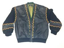 Saxony Collection Mens Size Large Black Biggie Cosby Hip Hop Jacket Rn25528