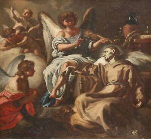 Manner of FRANCESCO SOLIMENA-Italian Old Master-Original Oil-Religious Scene