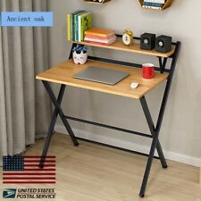 Home Office Desk Simple Laptop Computer Writing Table Desk Folding Study Desk US