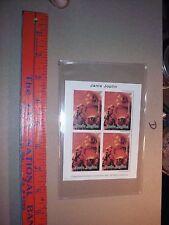 JANIS JOPLIN.   BLOCK OF STAMPS 1997 Montserrat $1.15 COA Music concert sexy wom