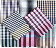Cotton Single Bed Sheet in Checks Design Combo Set 1+1 SBOXAJZ2