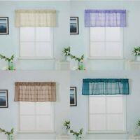 Valance Curtains Extra Wide Short Window Treatment Kitchen Living Bathroom UK