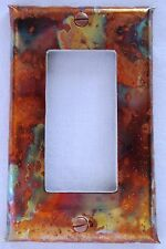 Handcrafted Burnt Copper Switch Plate Outlet Cover Single Rocker (SR) GFI