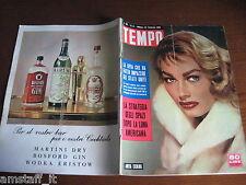 RIVISTA TEMPO 1958/8=ANITA EKBERG=SILVANA PAMPANINI=SOFIA LOREN=GIOVANNI GRONCHI