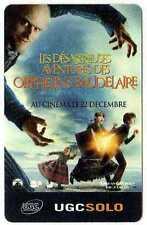 Cinécarte UGC Les orphelins Baudelaire