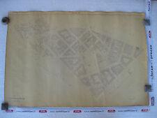 ROMA Mappa Catastale 594 originale V. Catania Forli' Ippocrate Chieti 1943 c.