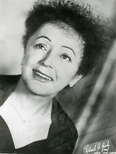 """""""Edith PIAF"""" Photo signée par impression (Richard LE GRABY années 50) 18x23,5cm"""