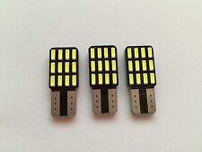 3x W5W Radial 12 SMD Led Kofferraumbeleuchtung AUDI A8 S8 4E D3 Hell Weiß