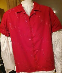 Rockabilly Red Cotton Shirt
