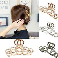 Women Big Hair Claw Round Hairpin Acrylic Novelty Crab Elegant Hair Clip Fashion