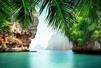 Phuket Thailand Tropical Sea Rock Island Poster 24x36 inch