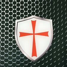 "Knight Templar Maltese cross Domed Decal Emblem Car Sticker 3D 2.3x 3"" Malta"