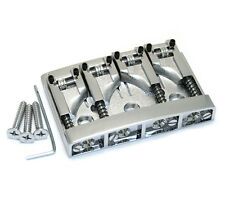 NEW Schaller High Mass 4 String Bass BRIDGE + Rollers Saddles Chrome BB-0318-010