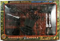 Soldier Force Military Play Set with Combat Vehicles 18 Piece Set Open Box