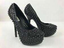 Steve Madden Babyln-G Black Studded Spike Goth Sexy Platform Heels Womens Sz 7