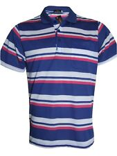 Men's Striped T-shirts Loose Fit Pique Polo Polycotton 1902 Tops Casual M to 5xl Royal Blue 5xl