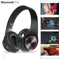 Ecouteurs Bluetooth 5.0 Sans fil Casque Hi-Fi Écouteur Strong Bass avec MIC