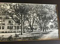 REAL PHOTO Southern Large 2 Story Victorian House/Home view 1910's ? Live Oak