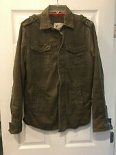 Men's American Eagle Army Jacket Olive Green 4 Pocket Full Zip Size S