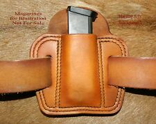 Leather MAG POUCH 357sig /.40/ 9mm Dbl Stack magazine +Sweat Guard Sig P229 Mags