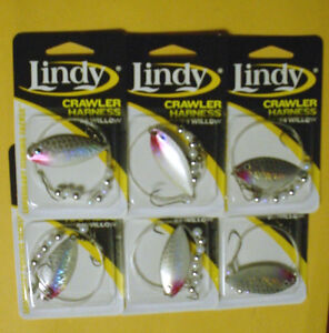 6  LINDY CRAWLER HARNESSES LSR806  #4 WILLOW BLADE-SHINER