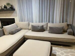 LIgne Roset NOMADE Sectional Sofa With Large Ottoman Set of 3