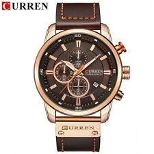 Men Analog Digital Leather Sports Watches Luxury Brand Men's Army Military Watch