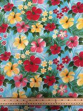 Hawaiian tissu fleurs tropicales - 100% coton-FREE POST