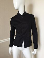 Marithe Francois Girbaud VINTAGE! Black Cotton Fitted Military Jacket M NWOT
