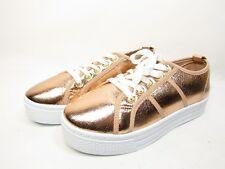Qupid Maniac-17 Distressed Metallic Flatform Creeper Womens Sneakers   Size 7M