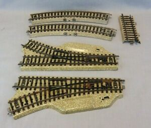 Marklin HO Scale 5139 Pair Right/Left Manual Switches w/2 #5100 Connector Tracks