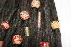 10 mixed wood, porcelain and brass beads for dreadlock - dread beads 5-7mm hole