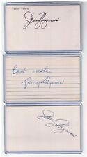 (3) JERRY NYMAN INDEX CARD SIGNED 1968-70 WHITE SOX PADRES PSA/DNA CERTIFIED