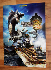 Monster Hunter Tri 3 Rune Factory Frontier Promo Poster 56x40cm Nintendo 3DS Wii
