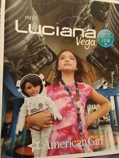 💕 Newest American Girl Doll Catalogue présentation de Luciana VEGA GOTY 2018 Nouveau 💕