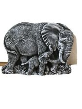 Latex mould for making these Lovely Elephant wall Plaque