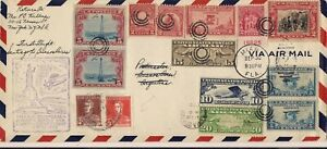 Sep 30 1929 First Flight Miami to Santiago to Buenos Aires Colorful Duel Postage